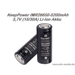 Keeppower IMR26650 - 5200mAh, 15/30 A